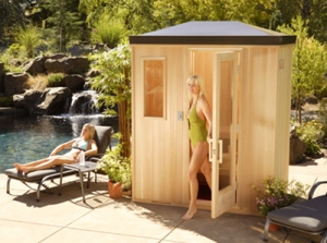 Franklin MI Outdoor Sauna - Portable Spas Plus Saunas Inc. - Outdoor_9
