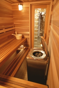 Orchard Lake MI Commercial Sauna - Portable Spas Plus Saunas Inc. - Precut5